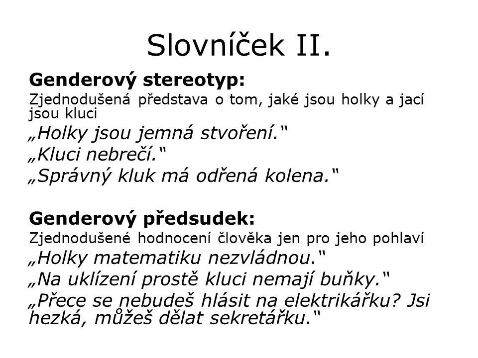 Slovníček II.