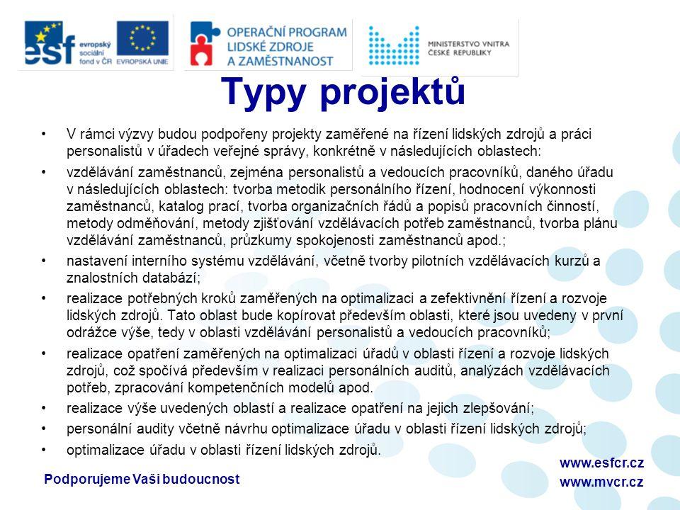 Podporujeme Vaši budoucnostwww.esfcr.cz www.mvcr.cz Podporujeme Vaši budoucnostwww.esfcr.cz www.mvcr.cz Prostor pro Vaše dotazy Ing.