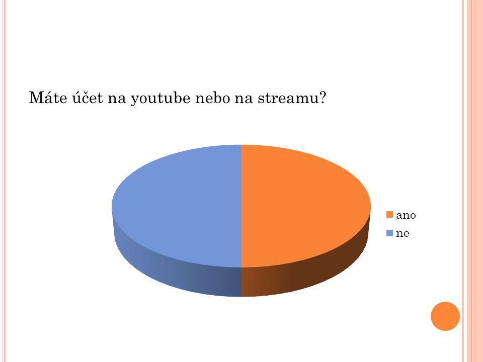 Máte účet na youtube nebo na streamu