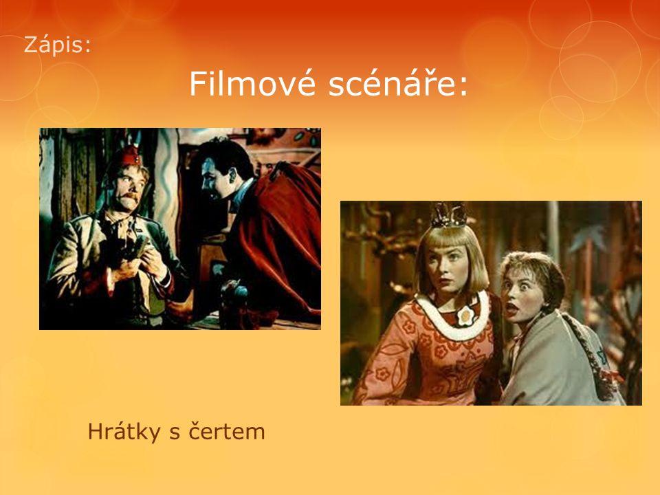 Filmové scénáře: Zápis: Dařbuján a Pandrhola