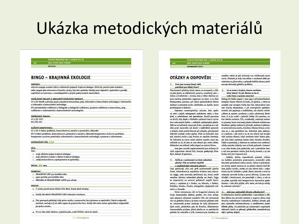Ukázka metodických materiálů