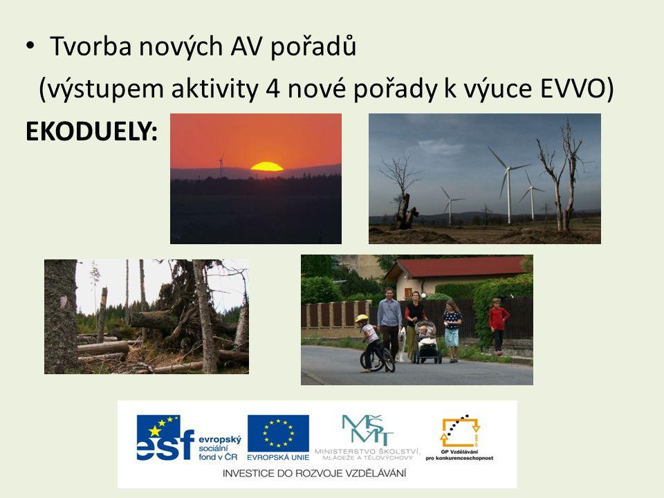 Tvorba nových AV pořadů (výstupem aktivity 4 nové pořady k výuce EVVO) EKODUELY:
