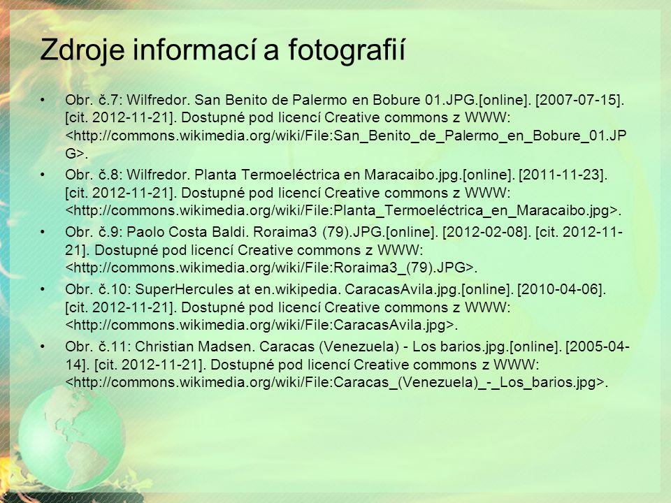 Zdroje informací a fotografií Obr. č.7: Wilfredor.
