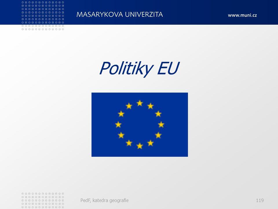 Politiky EU PedF, katedra geografie119