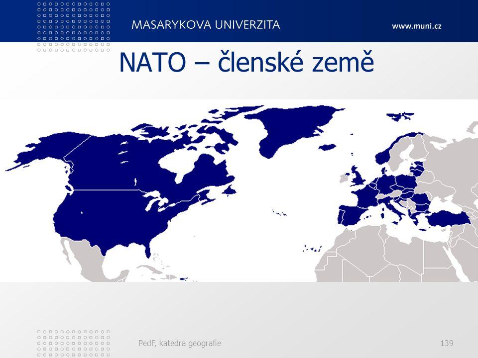 NATO – členské země PedF, katedra geografie139