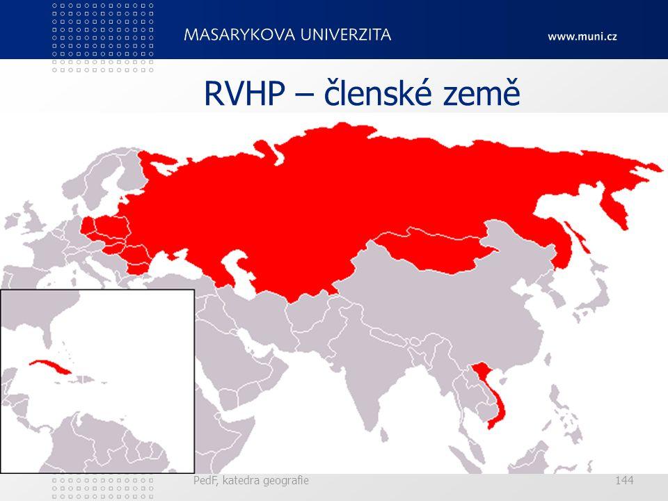 RVHP – členské země PedF, katedra geografie144