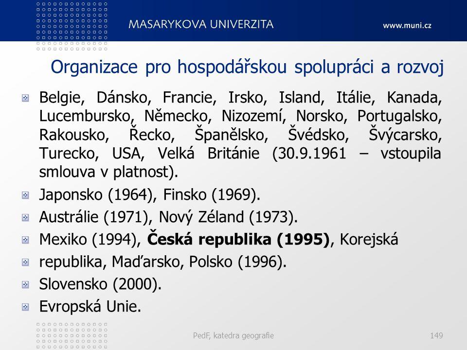 Belgie, Dánsko, Francie, Irsko, Island, Itálie, Kanada, Lucembursko, Německo, Nizozemí, Norsko, Portugalsko, Rakousko, Řecko, Španělsko, Švédsko, Švýcarsko, Turecko, USA, Velká Británie (30.9.1961 – vstoupila smlouva v platnost).