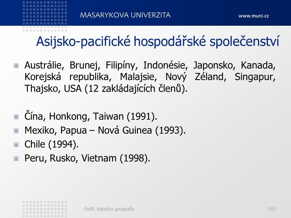 Asijsko-pacifické hospodářské společenství Austrálie, Brunej, Filipíny, Indonésie, Japonsko, Kanada, Korejská republika, Malajsie, Nový Zéland, Singap