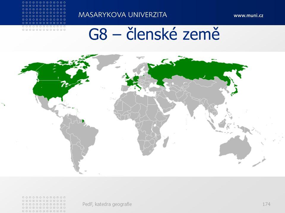 G8 – členské země PedF, katedra geografie174