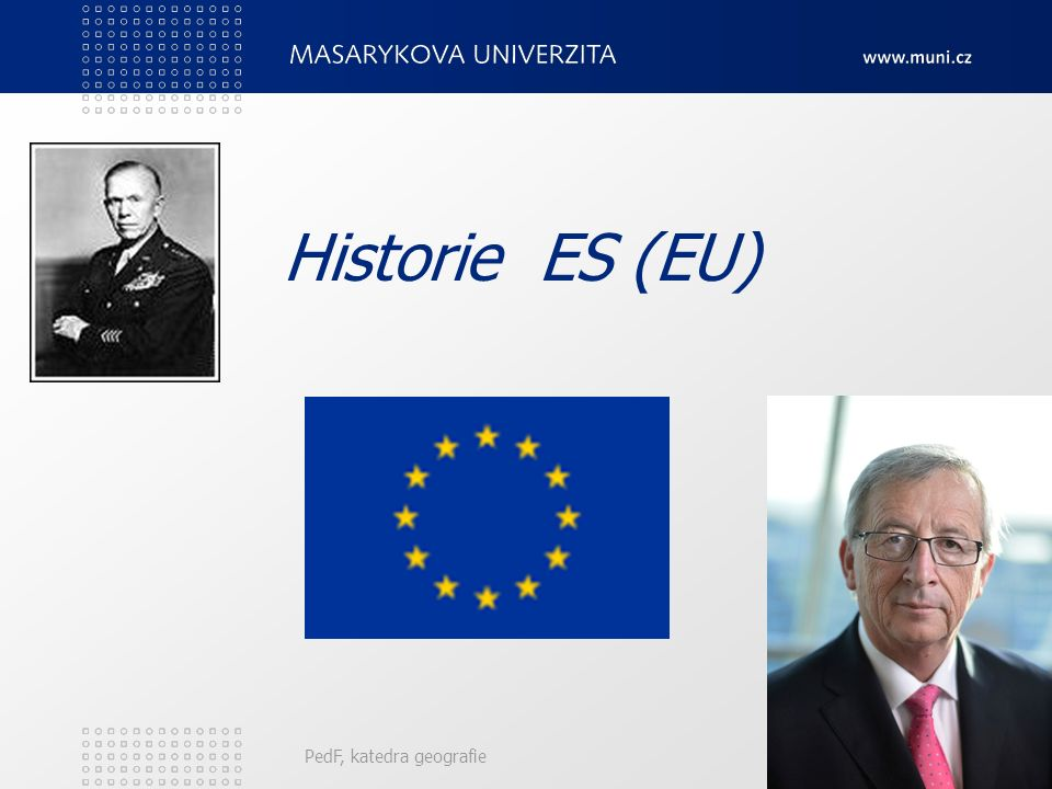Historie ES (EU) PedF, katedra geografie