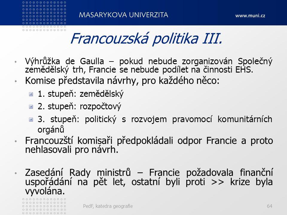 Francouzská politika III.