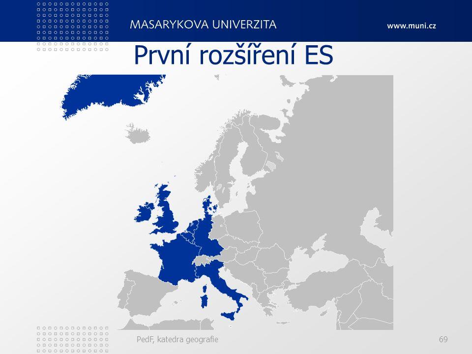 První rozšíření ES PedF, katedra geografie69