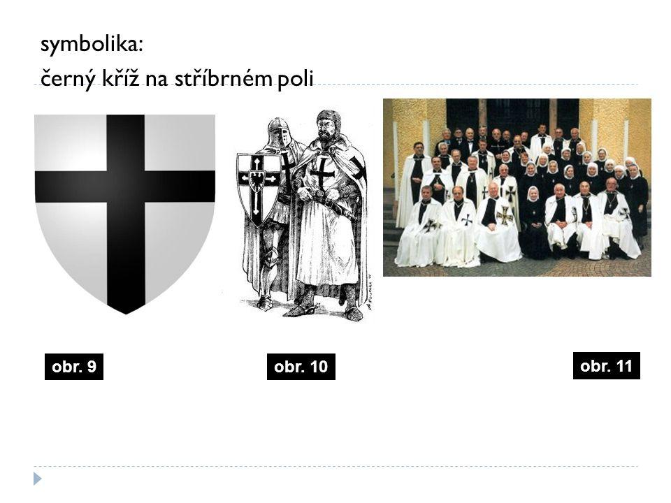 symbolika: černý kříž na stříbrném poli obr. 11 obr. 10obr. 9