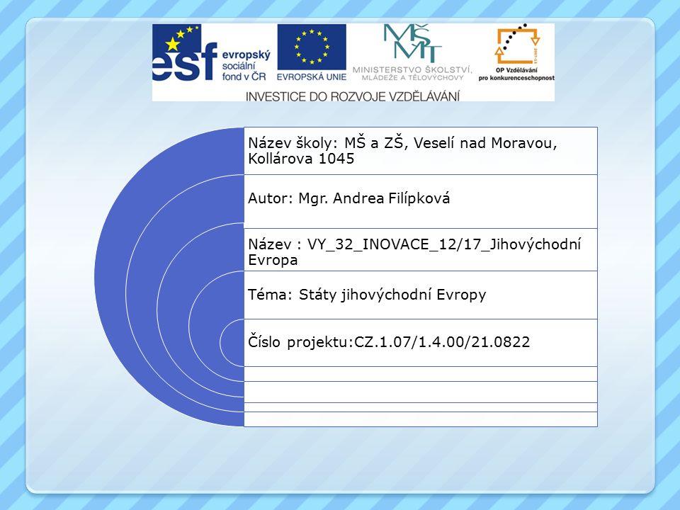 Anotace Materiál je určen pro výuku předmětu zeměpis pro základní školu praktickou.