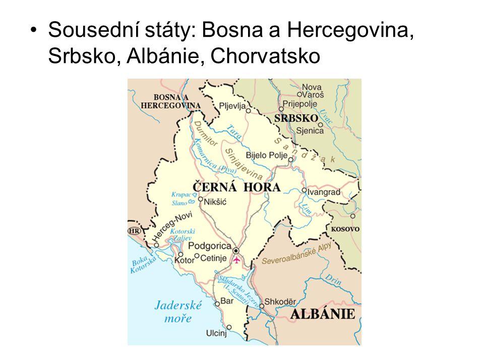 Sousední státy: Bosna a Hercegovina, Srbsko, Albánie, Chorvatsko