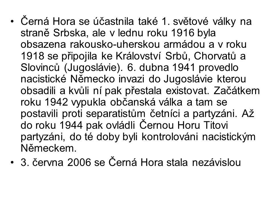 Obyvatelé a náboženství Pravoslavní - 72 % Islám - 19 % Katolická - 3 % Černohorci Srbové Bosňáci - Muslimové Albánci