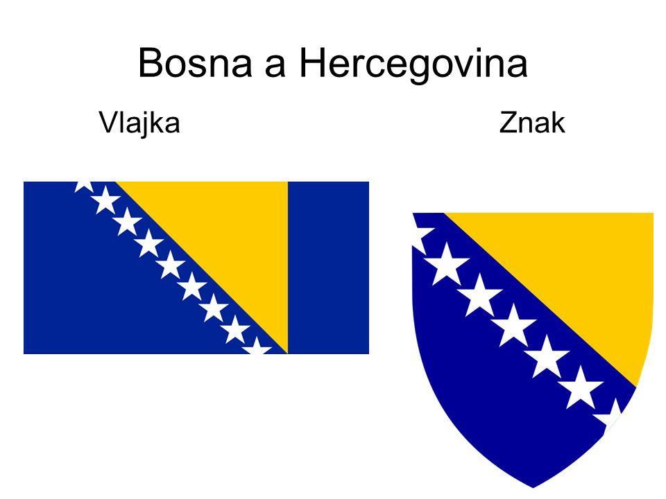 Bosna a Hercegovina Vlajka Znak