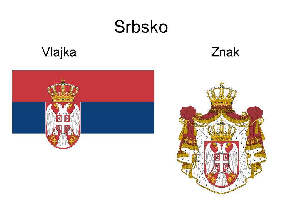 Srbsko Vlajka Znak
