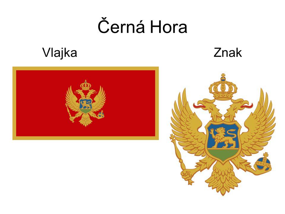 Černá Hora Vlajka Znak