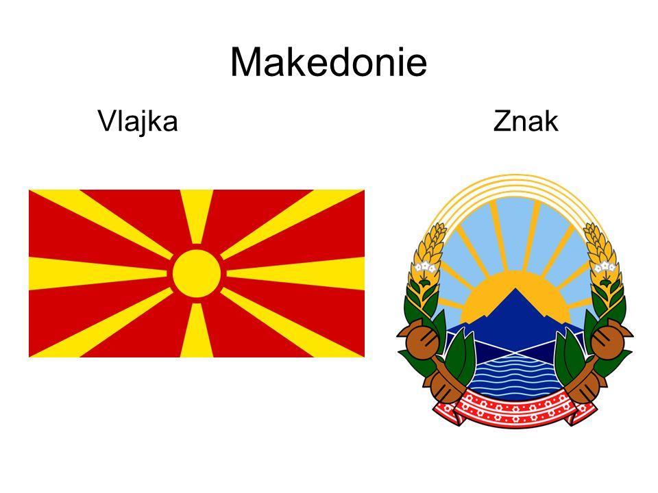 Makedonie Vlajka Znak