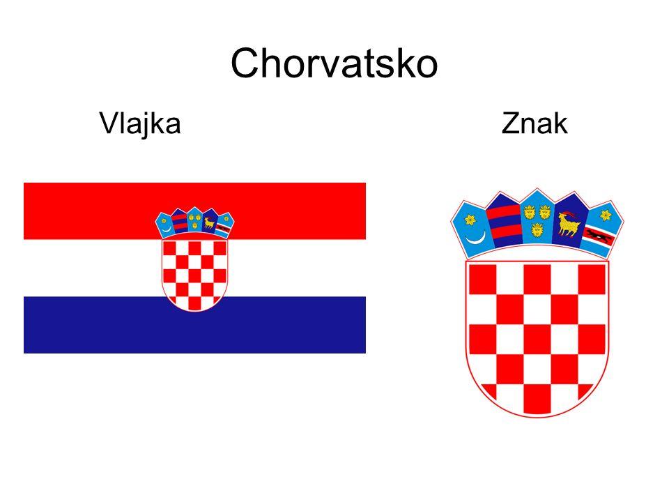 Chorvatsko Vlajka Znak