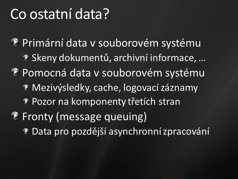 Co ostatní data.