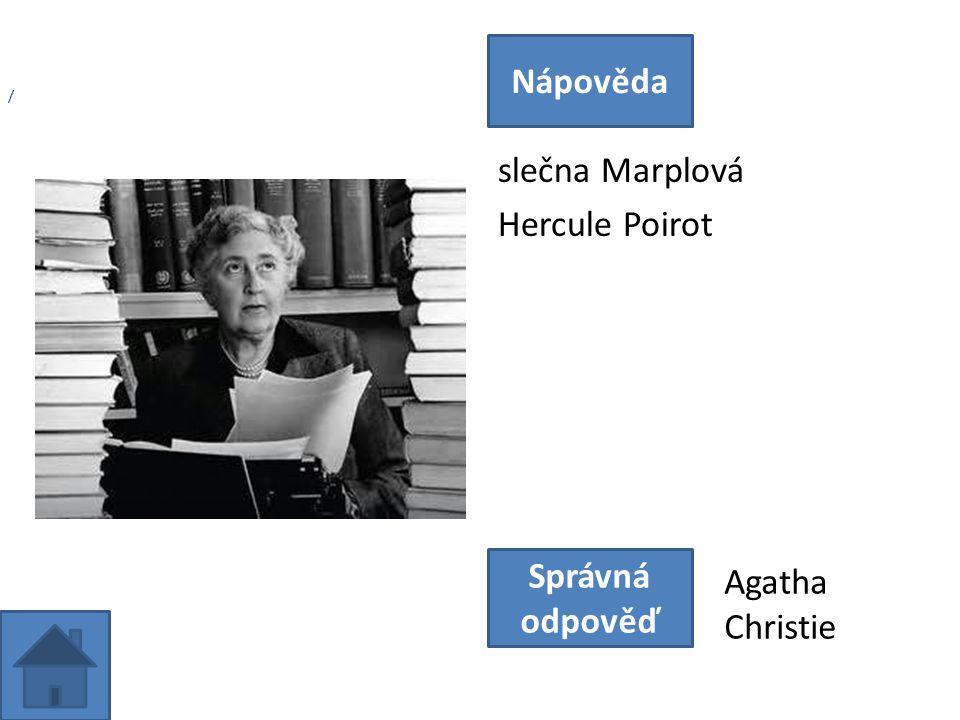 slečna Marplová Hercule Poirot Nápověda Správná odpověď Agatha Christie /