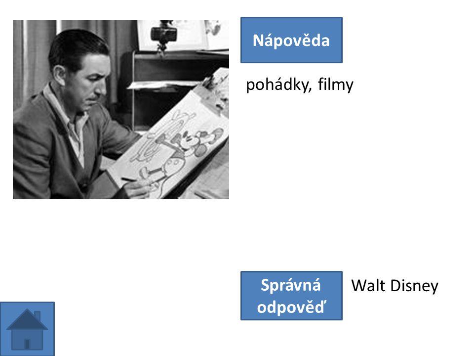 pohádky, filmy Nápověda Správná odpověď Walt Disney