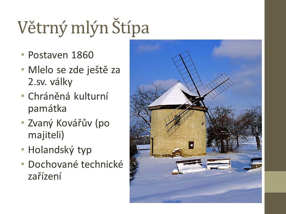 Postaven 1860 Mlelo se zde ještě za 2.sv.