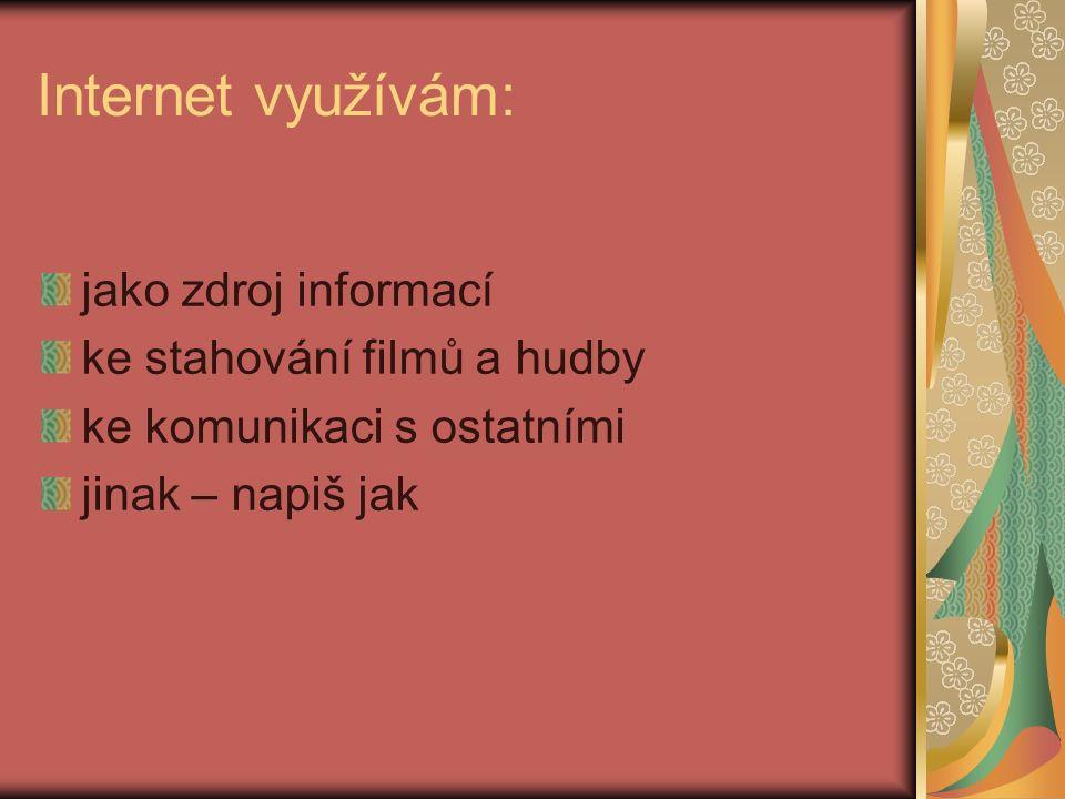 Pravidla internetového provozu Na internetu nalezneš různá doporučení, soupisy pravidel a rad pro děti a mládež, jak se správně chovat v online prostředí.