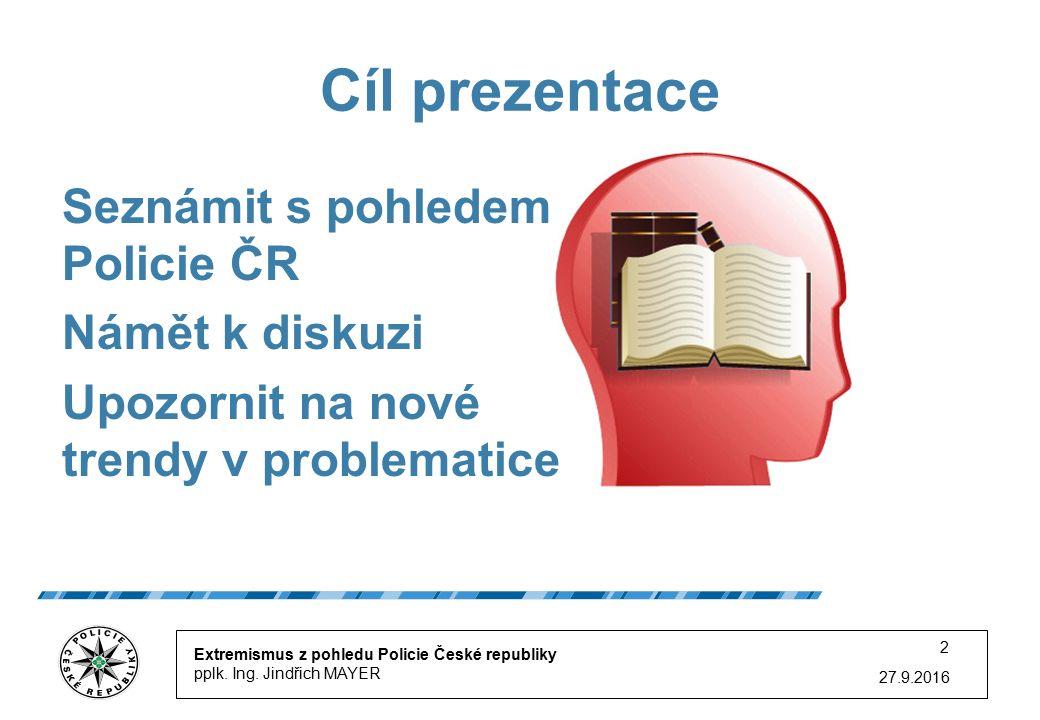 27.9.2016 Extremismus z pohledu Policie České republiky pplk.