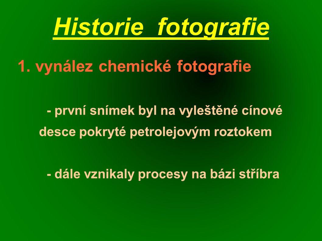 Historie fotografie 1.