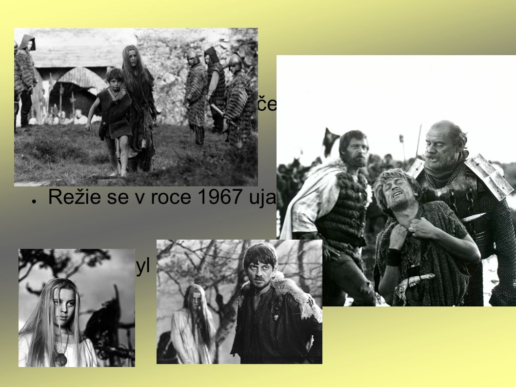 ● Podle románu byl natočený stejnojmenný film Markéta Lazarová ● Režie se v roce 1967 ujal František Vláčil ● Snímek byl označen za nejlepší český film