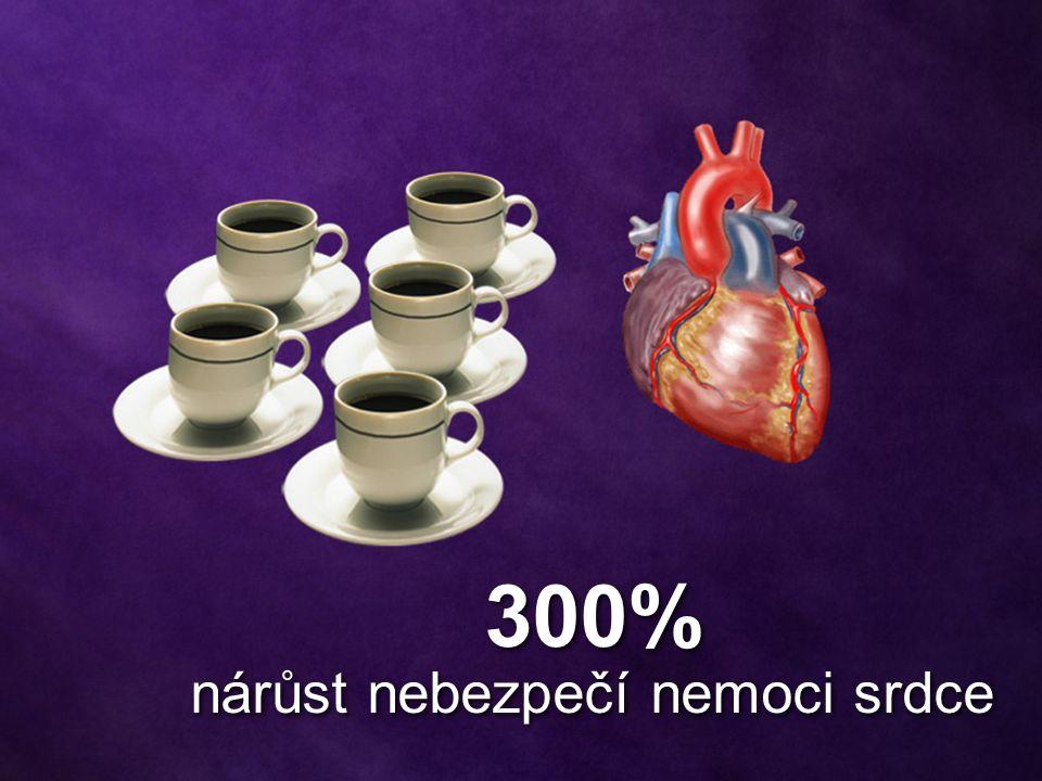 300% nárůst nebezpečí nemoci srdce 300% nárůst nebezpečí nemoci srdce