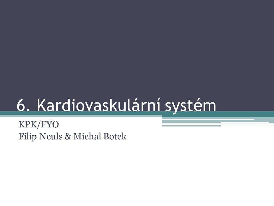 6. Kardiovaskulární systém KPK/FYO Filip Neuls & Michal Botek