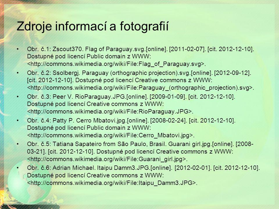 Zdroje informací a fotografií Obr.č.1: Zscout370.