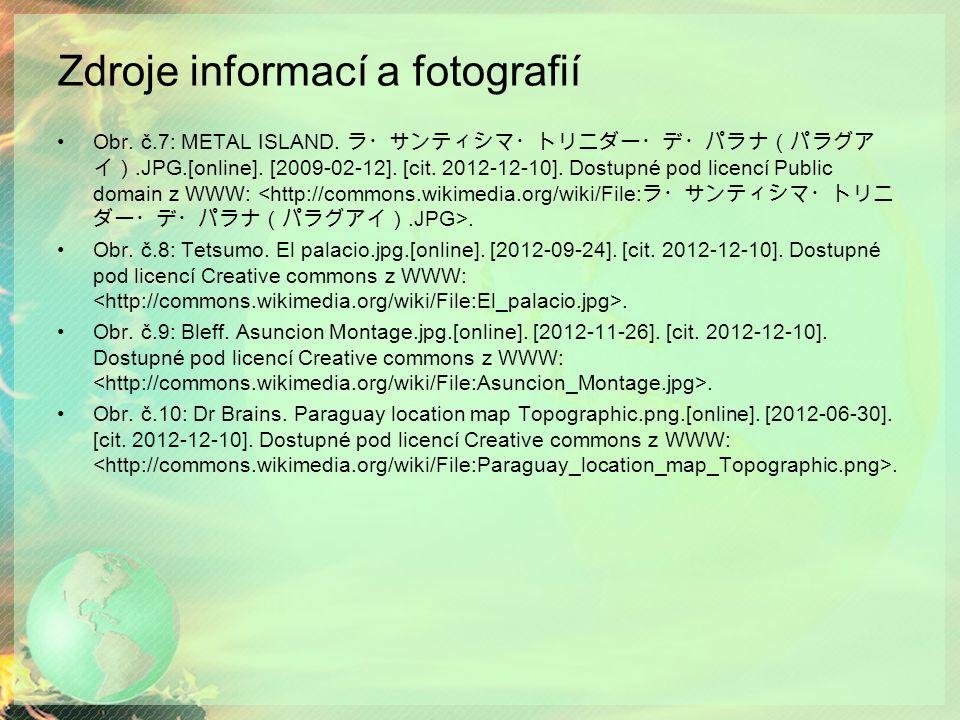 Zdroje informací a fotografií Obr.č.7: METAL ISLAND.