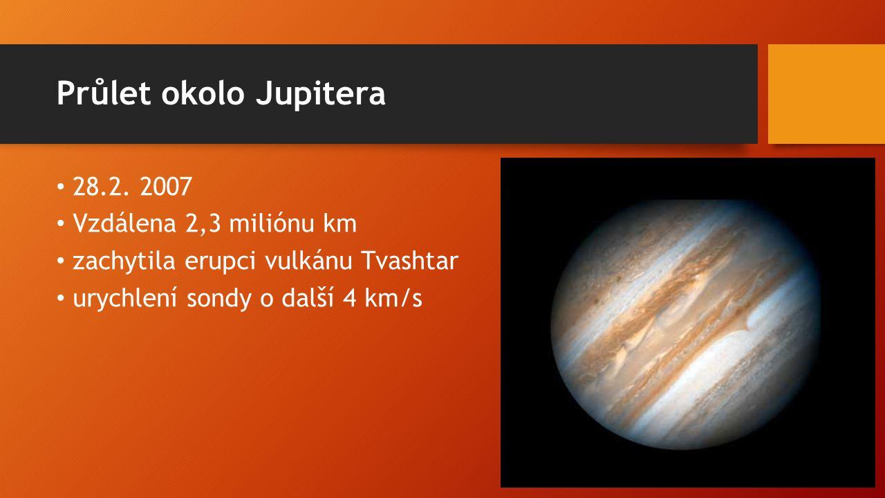 Průlet okolo Jupitera 28.2.