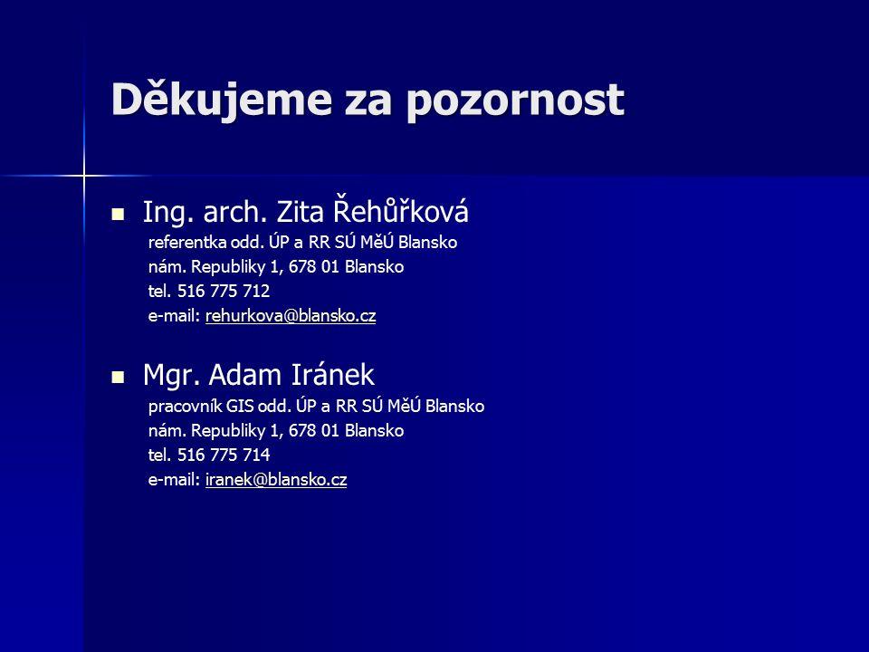 Děkujeme za pozornost Ing. arch. Zita Řehůřková referentka odd.