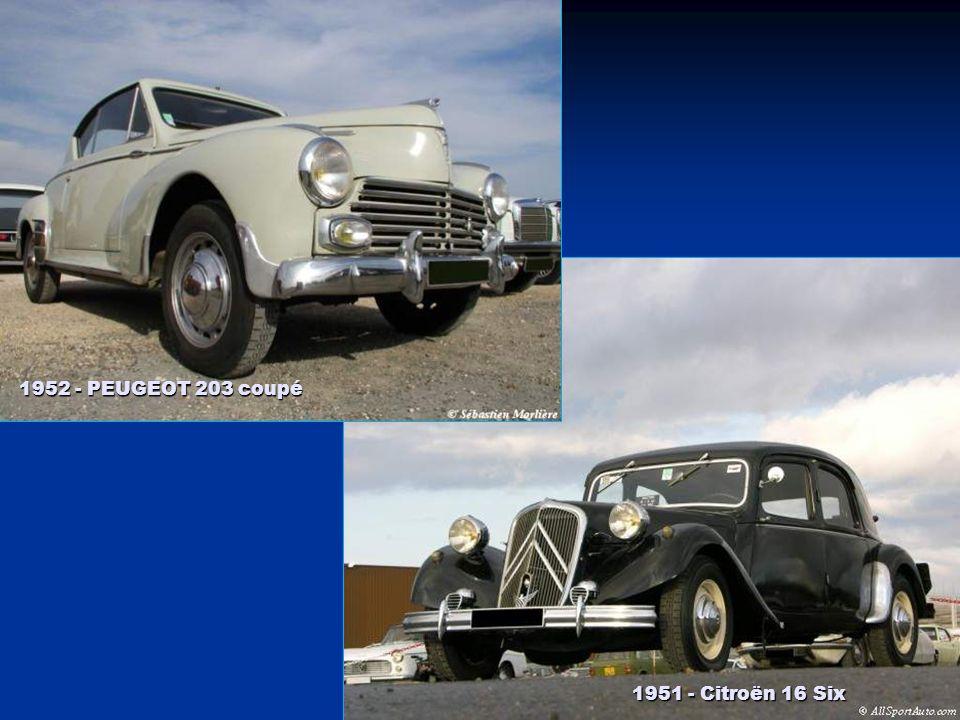 1951 - PEUGEOT 203 1951 - RENAULT 4 CV