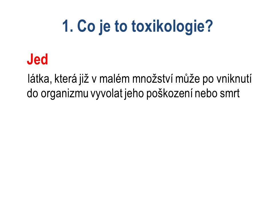 1.Co je to toxikologie.