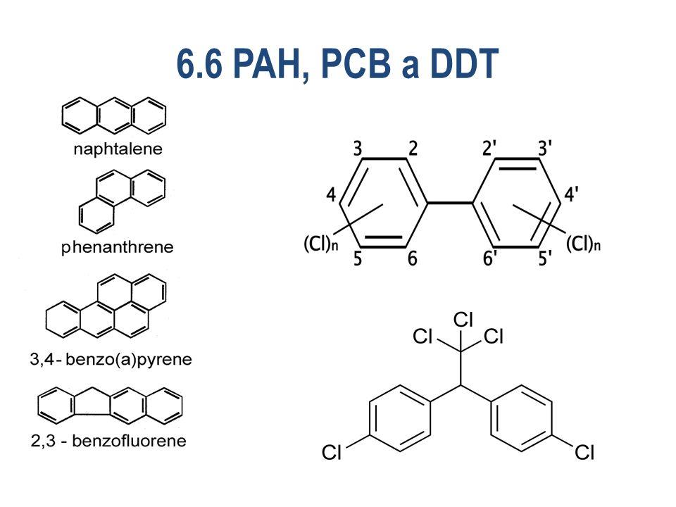 6.6 PAH, PCB a DDT