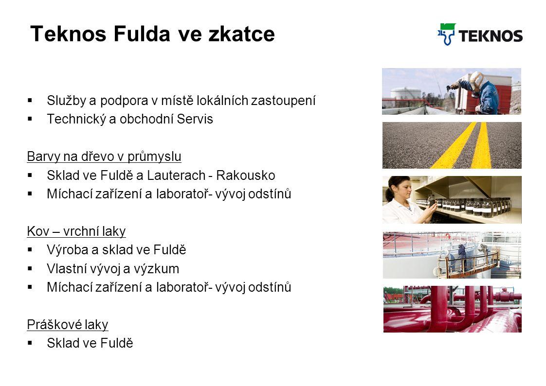 Teknos Februar 2012 16 Teknos Fulda ve zkatce  Služby a podpora v místě lokálních zastoupení  Technický a obchodní Servis Barvy na dřevo v průmyslu
