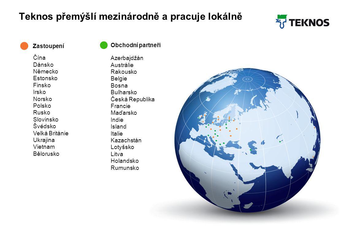 Teknos Februar 2012 4 Teknos přemýšlí mezinárodně a pracuje lokálně Zastoupení Azerbajdžán Austrálie Rakousko Belgie Bosna Bulharsko Česká Republika Francie Maďarsko Indie Island Italie Kazachstán Lotyšsko Litva Holandsko Rumunsko Čína Dánsko Německo Estonsko Finsko Irsko Norsko Polsko Rusko Slovinsko Švédsko Velká Británie Ukrajina Vietnam Bělorusko Obchodní partneři