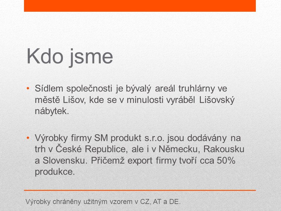 Kdo jsme Sídlem společnosti je bývalý areál truhlárny ve městě Lišov, kde se v minulosti vyráběl Lišovský nábytek. Výrobky firmy SM produkt s.r.o. jso