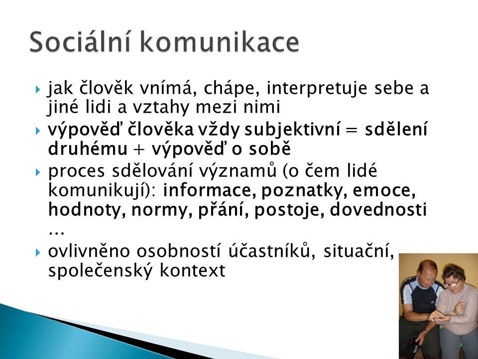  Proces, při němž jsou sdělovány informace  Komunikace prostřednictvím symbolů: mluvené slovo, písmo, obrázek, gesto, akce, činnost  Předávání info