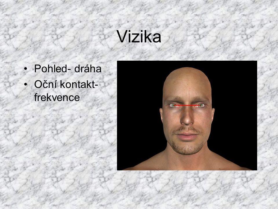 Vizika Pohled- dráha Oční kontakt- frekvence