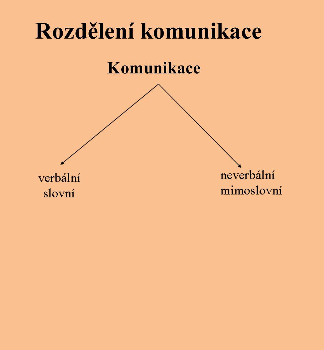 Rozdělení komunikace Komunikace
