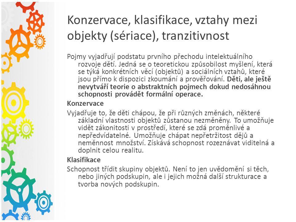 Sériace Schopnost disponovat souborem elementů (prvků) v souladu s vazbami, které mezi nimi existují.