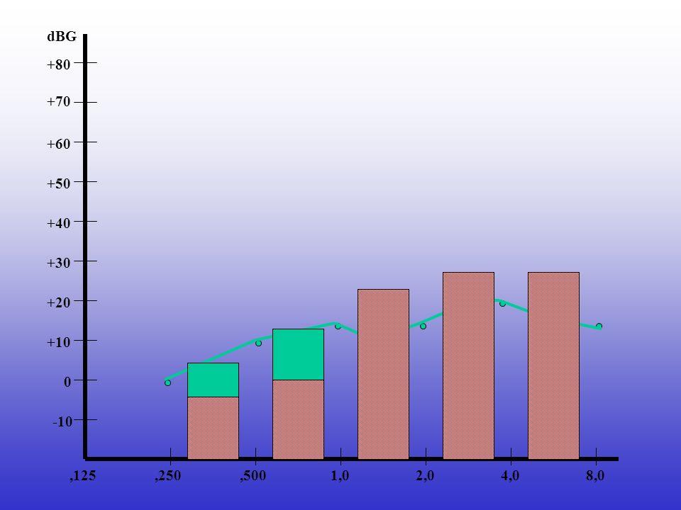 +60 8,04,02,01,0,500,250,125 +70 +50 +40 +30 +20 -10 0 +10 +80 dBG